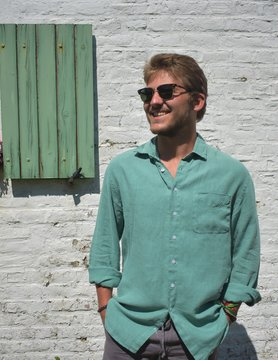Le grenier du lin Absint shirt met lange mouwen