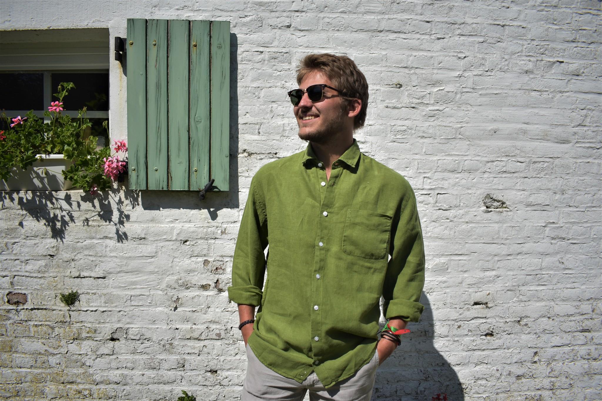 Le grenier du lin Long-sleeved lime tree shirt