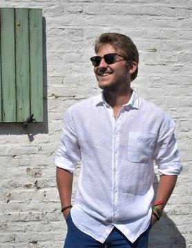 Le grenier du lin Wit shirt met lange mouwen