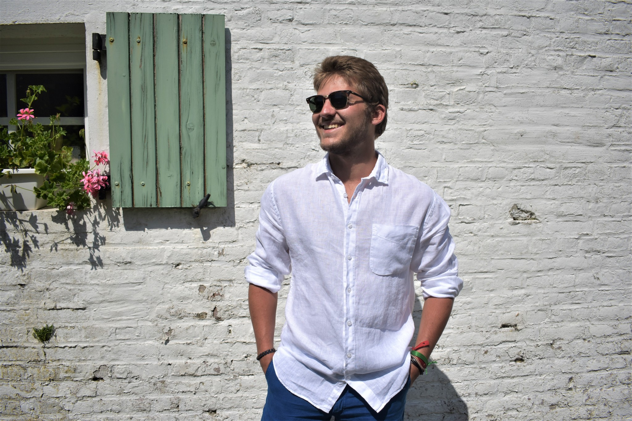 Le grenier du lin White long sleeved shirt