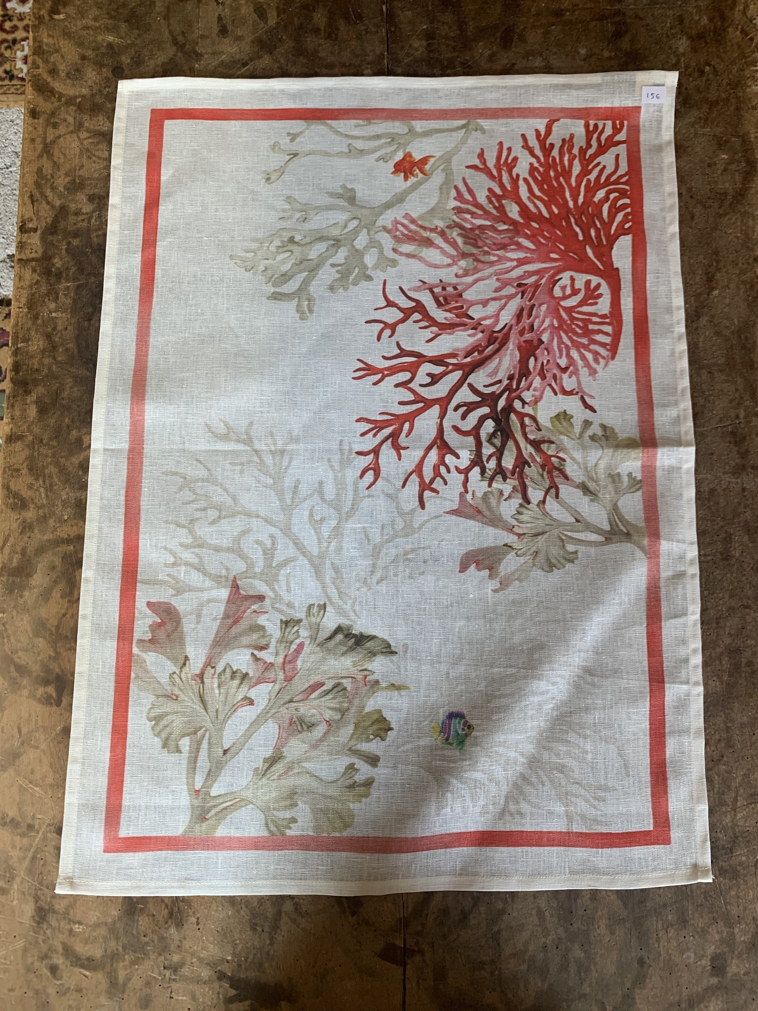 "Tea towel ""Corals"