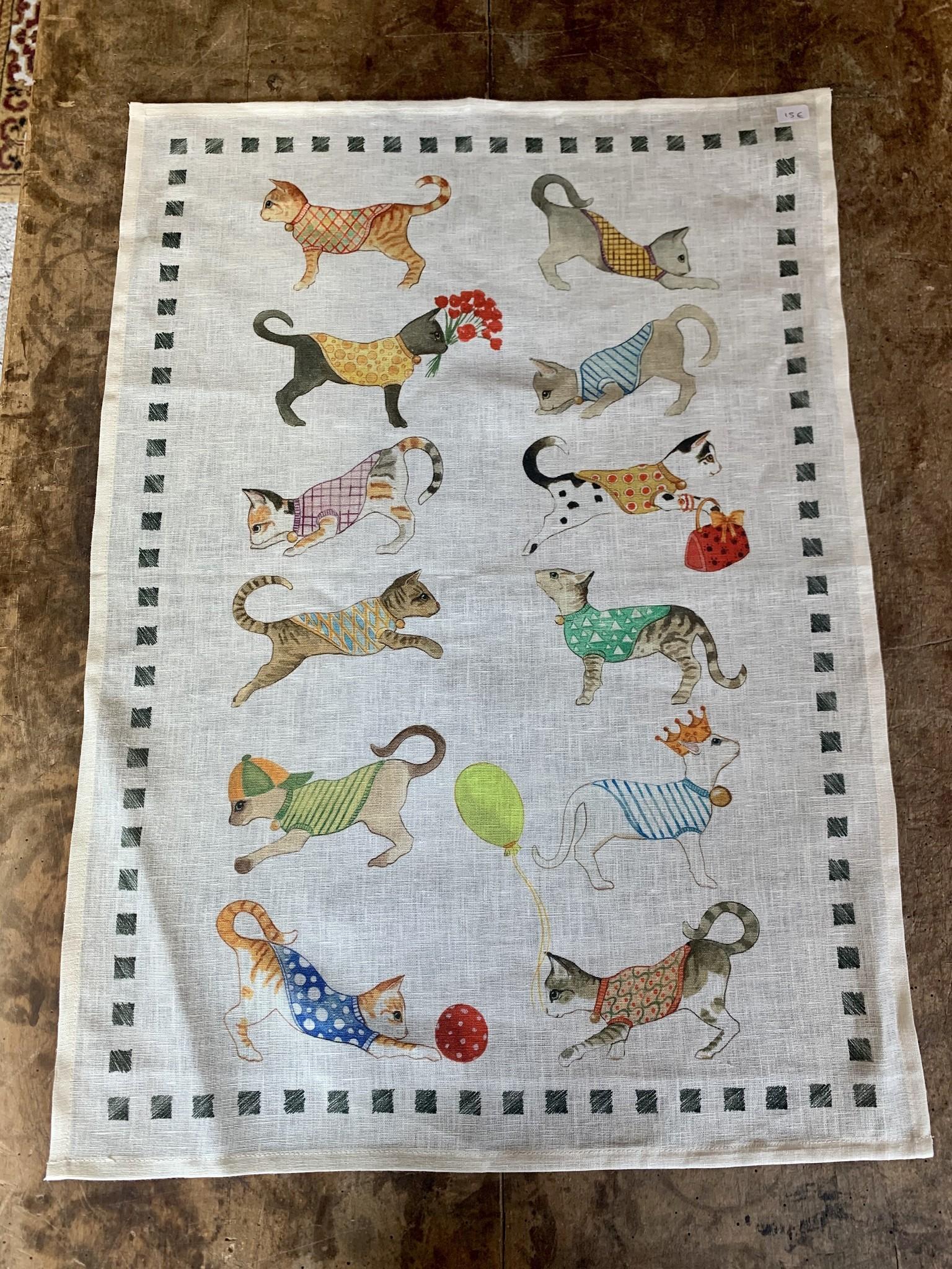 """Kittens"""" tea towel"""