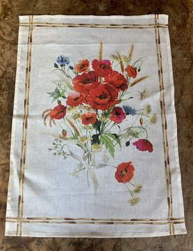 """Bouquet"" tea towel"
