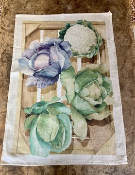 """Cabbage"" tea towel"