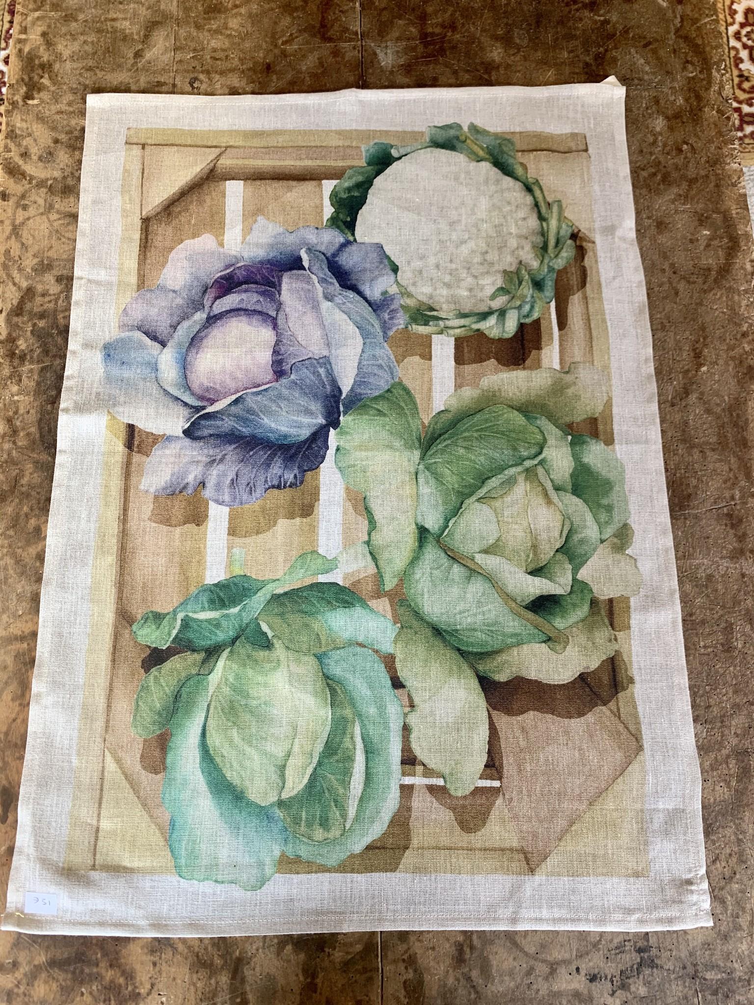 """Cabbage"" tea towel"