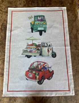 """Food truck"" tea towel"