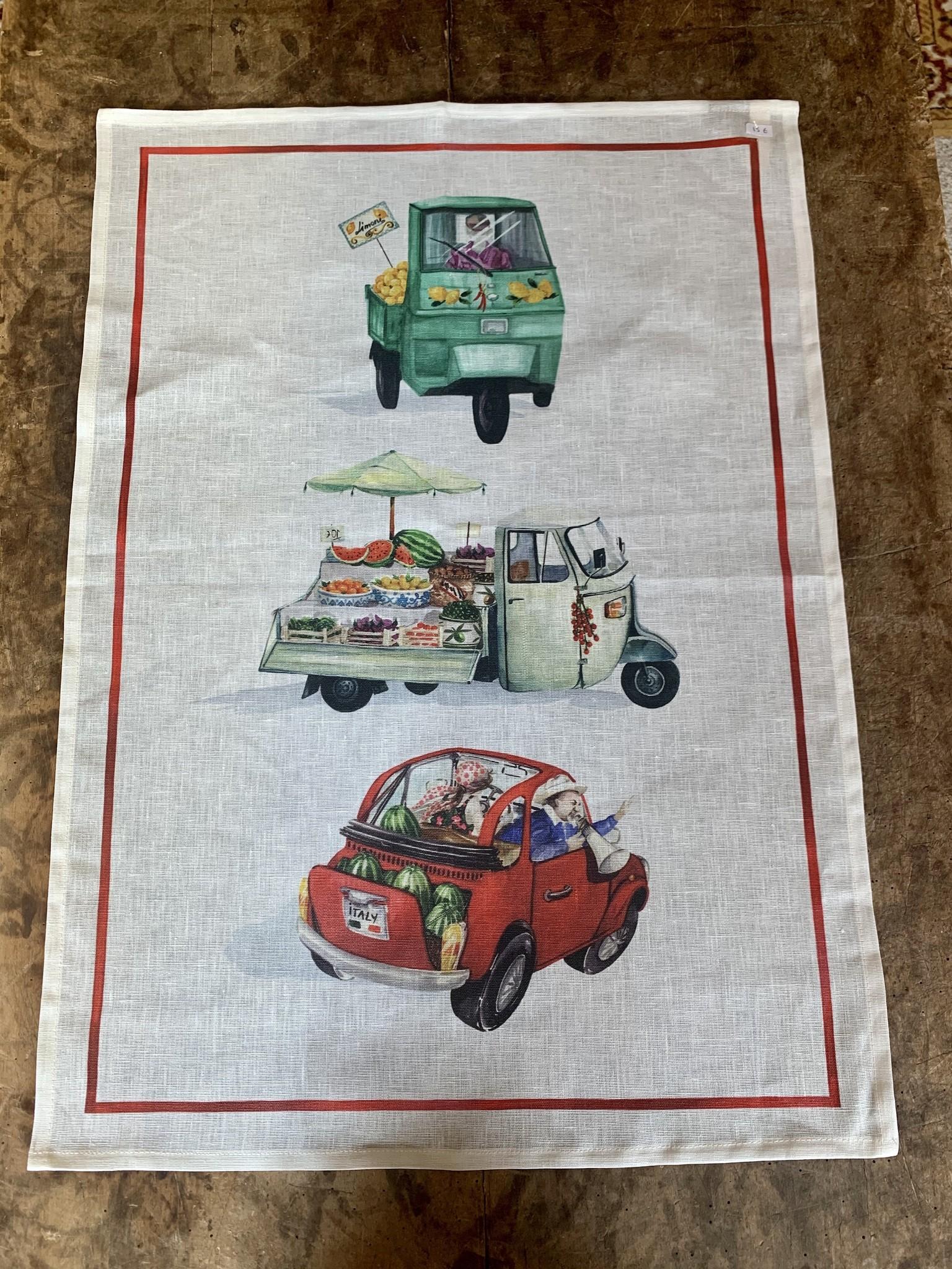 """Food truck"" tea towel"