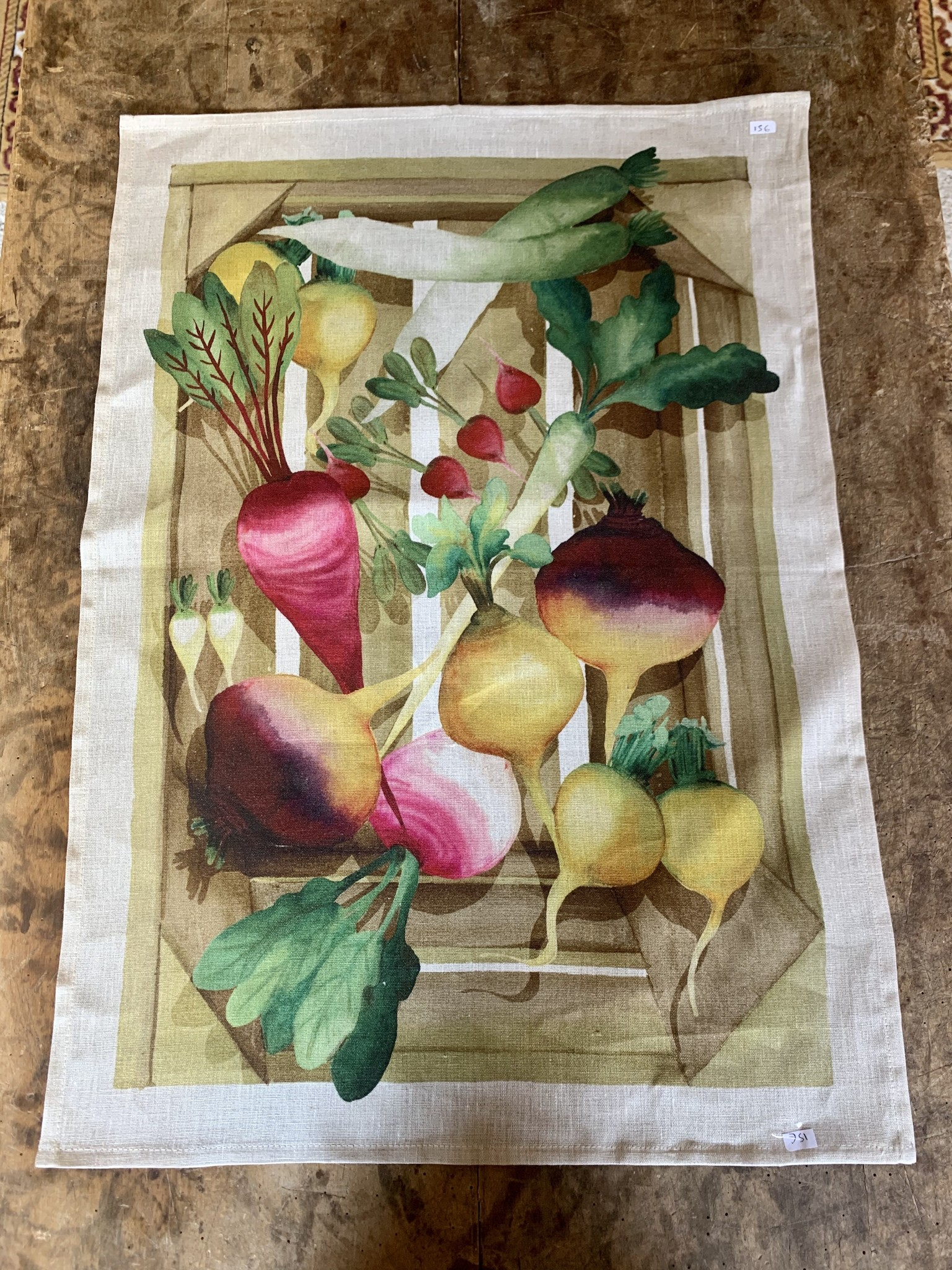 "Tea towel ""vegetables"""