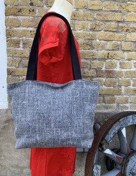 Le grenier du lin Heather grey bag