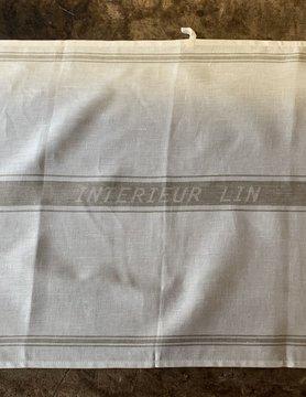 """White tea towel """"intérieur lin"""""""