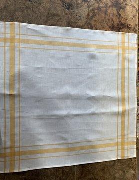 Torchon Libeco blanc contour jaune