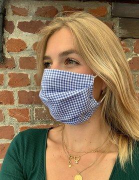 Masque vichy bleu