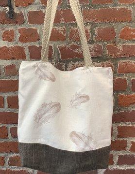 Bicolour feather bag