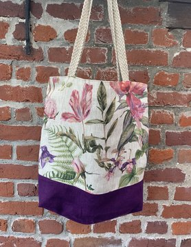 Bicolour floral bag