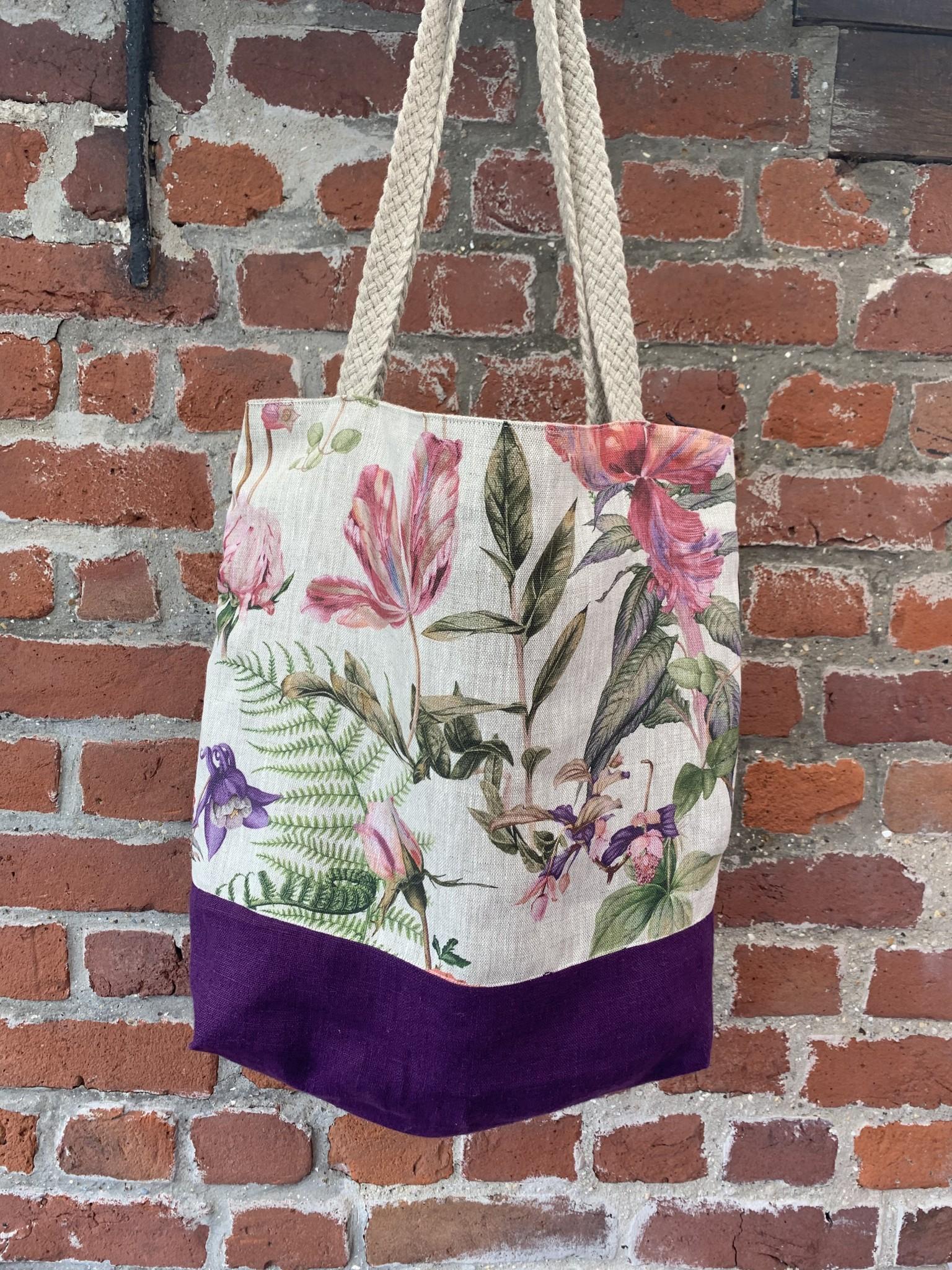 Bicolour floral bag