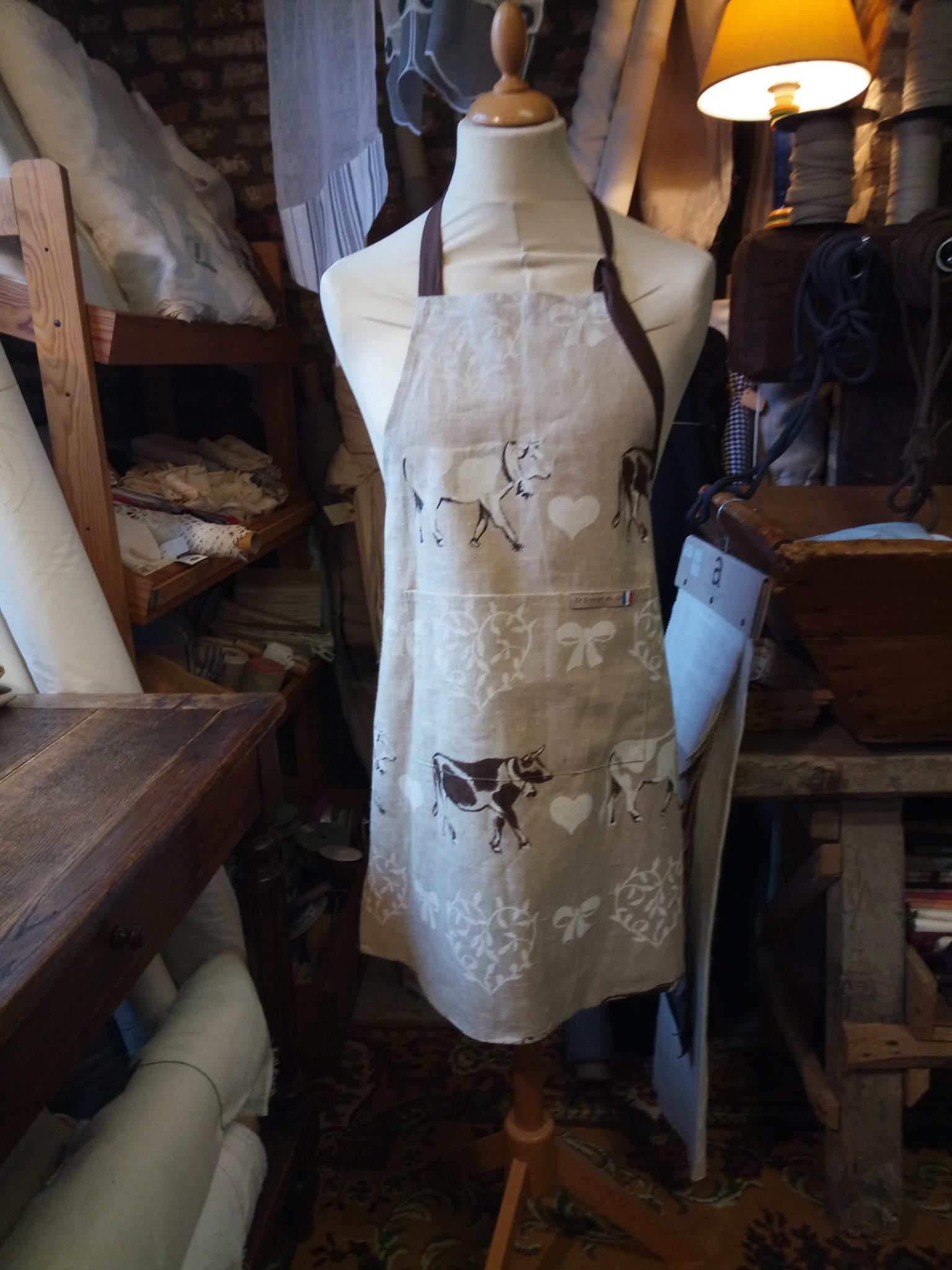 """Le grenier du lin """"Cow"""" apron"""