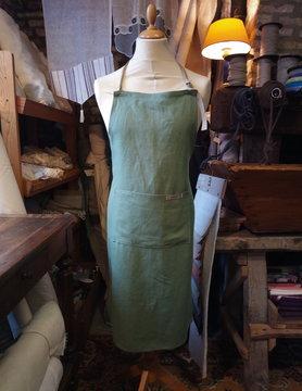 Le grenier du lin Plain green apron
