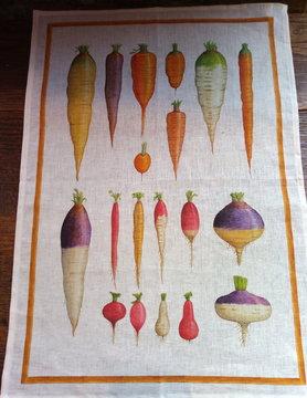 """Torchon """" carotte et navet """""""
