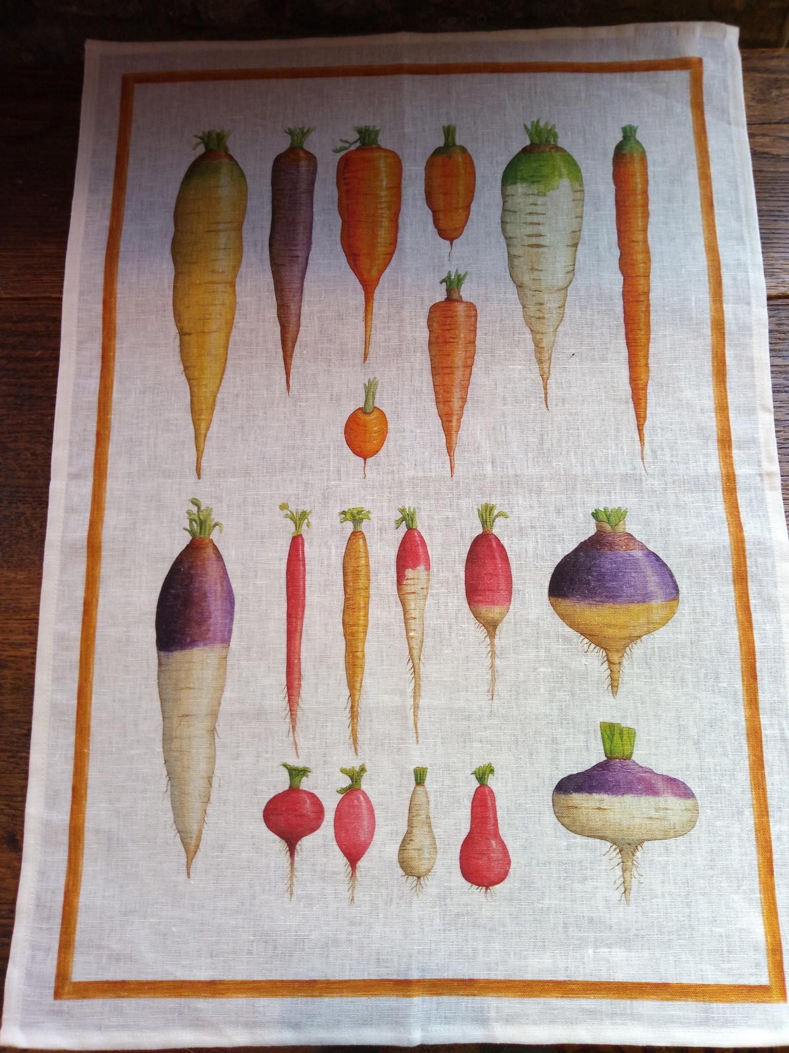 Vegetable tea towel