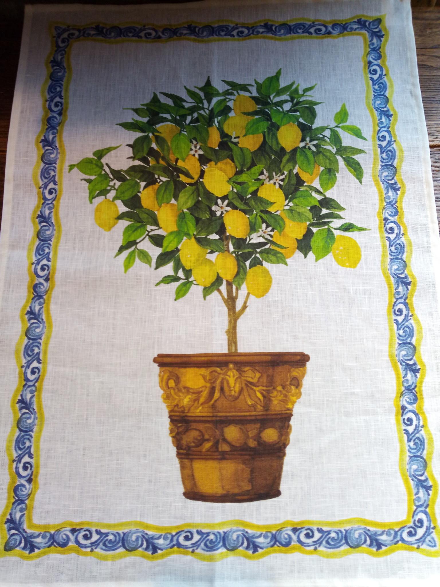 """Lemon tree"""" tea towel"""
