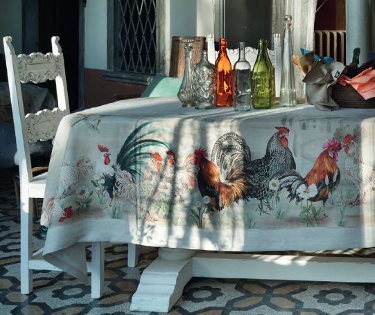 tablecloth rooster