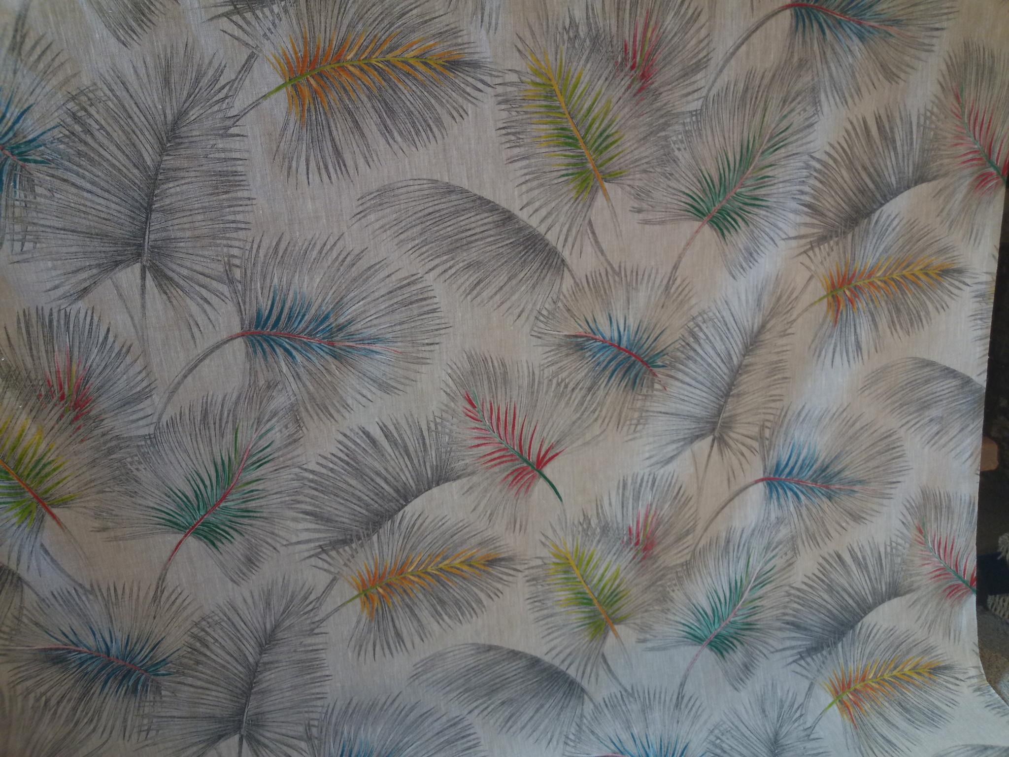 """Tissu """" palmier coloré"""""""