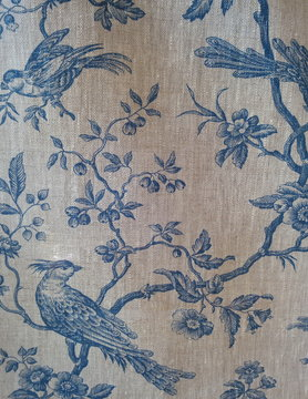 "Blue titmouse"" fabric"