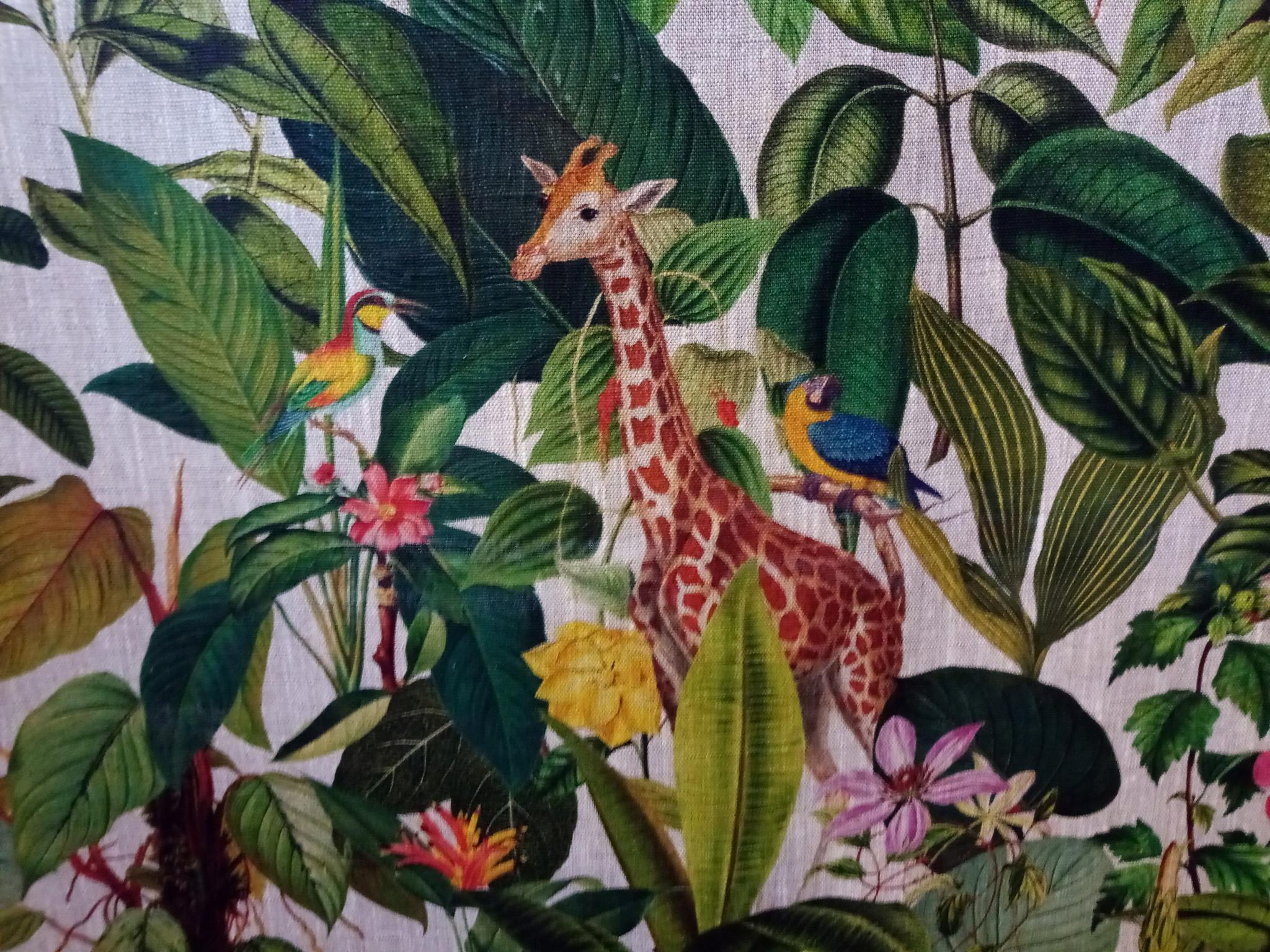 """""""Giraffe in de Jungle"""" stof."""