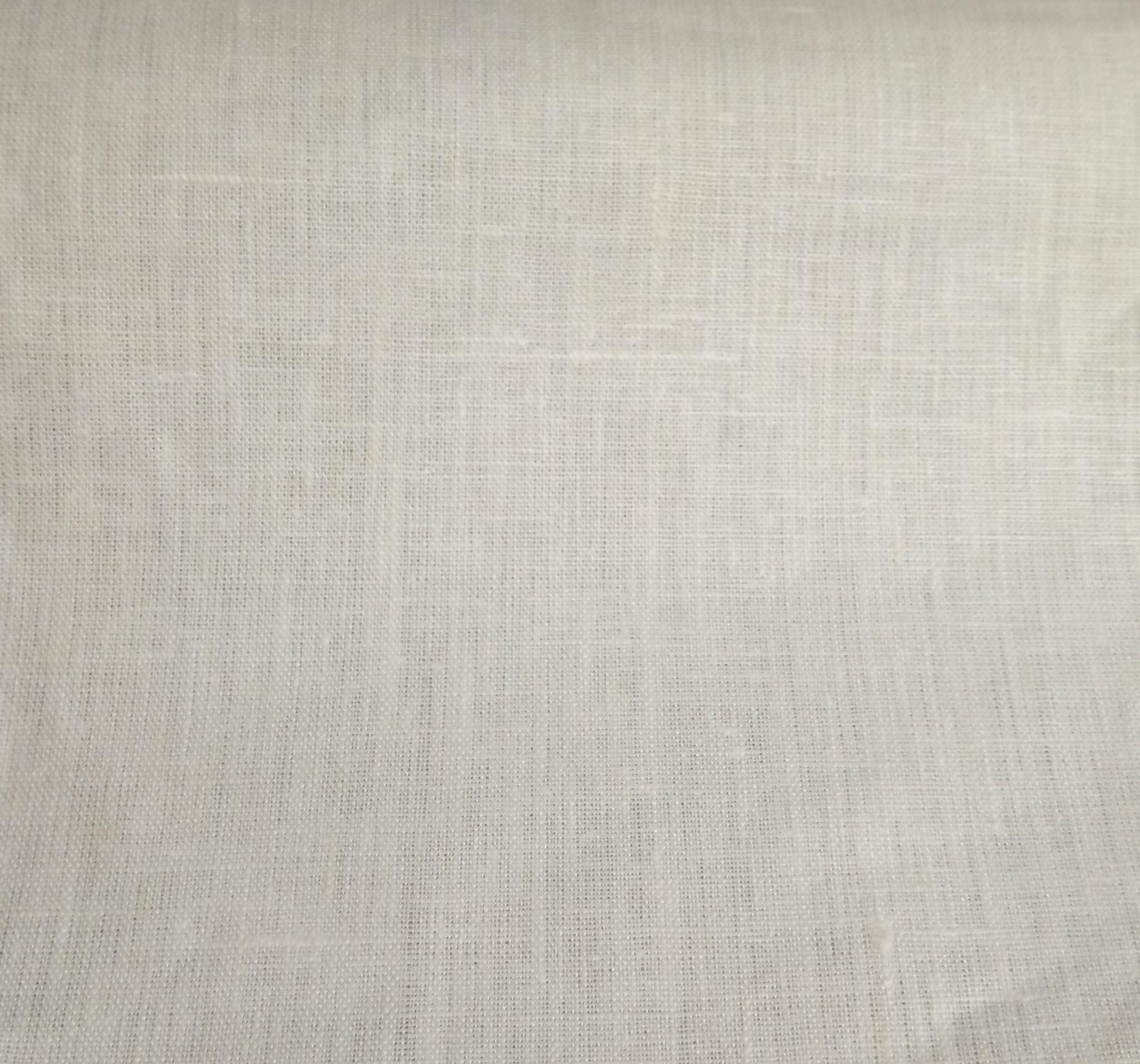 white  coated linen