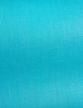 cyan blue  coated linen