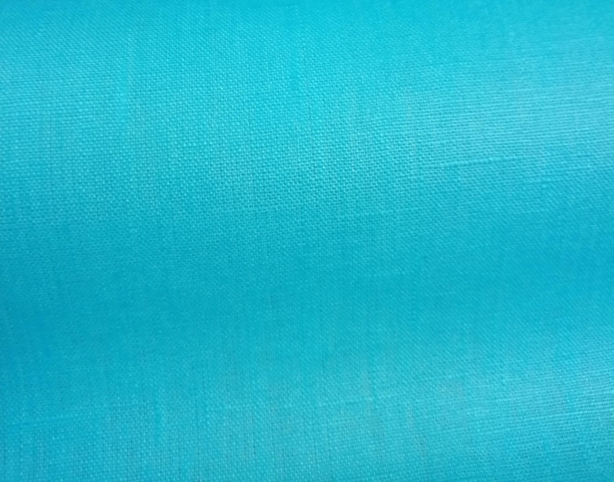 cyaanblauw gecoat linnen