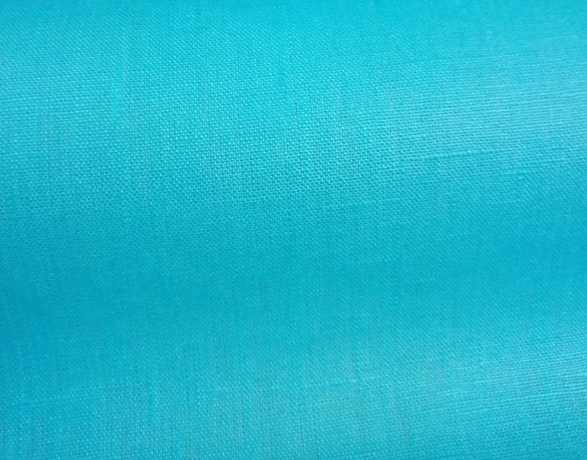 cyan blue  coated linen