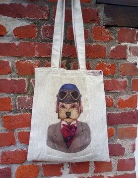 """Le grenier du lin bag """" biker helmet dog"""""""