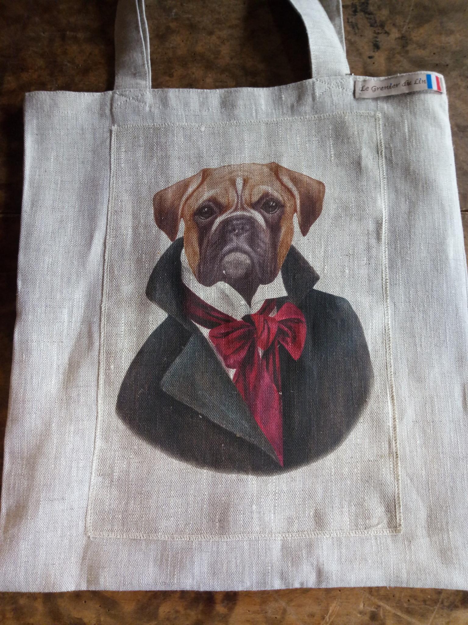 "Le grenier du lin sac "" bulldog """