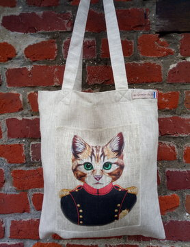 Le grenier du lin circus cat bag