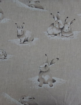 Le grenier du lin rabbit tablecloth