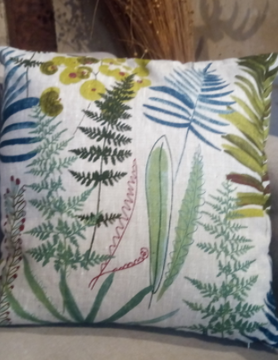 "Le grenier du lin ""Brocéliande"" cushion"