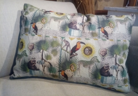 """Le grenier du lin """"safari"""" cushion"""
