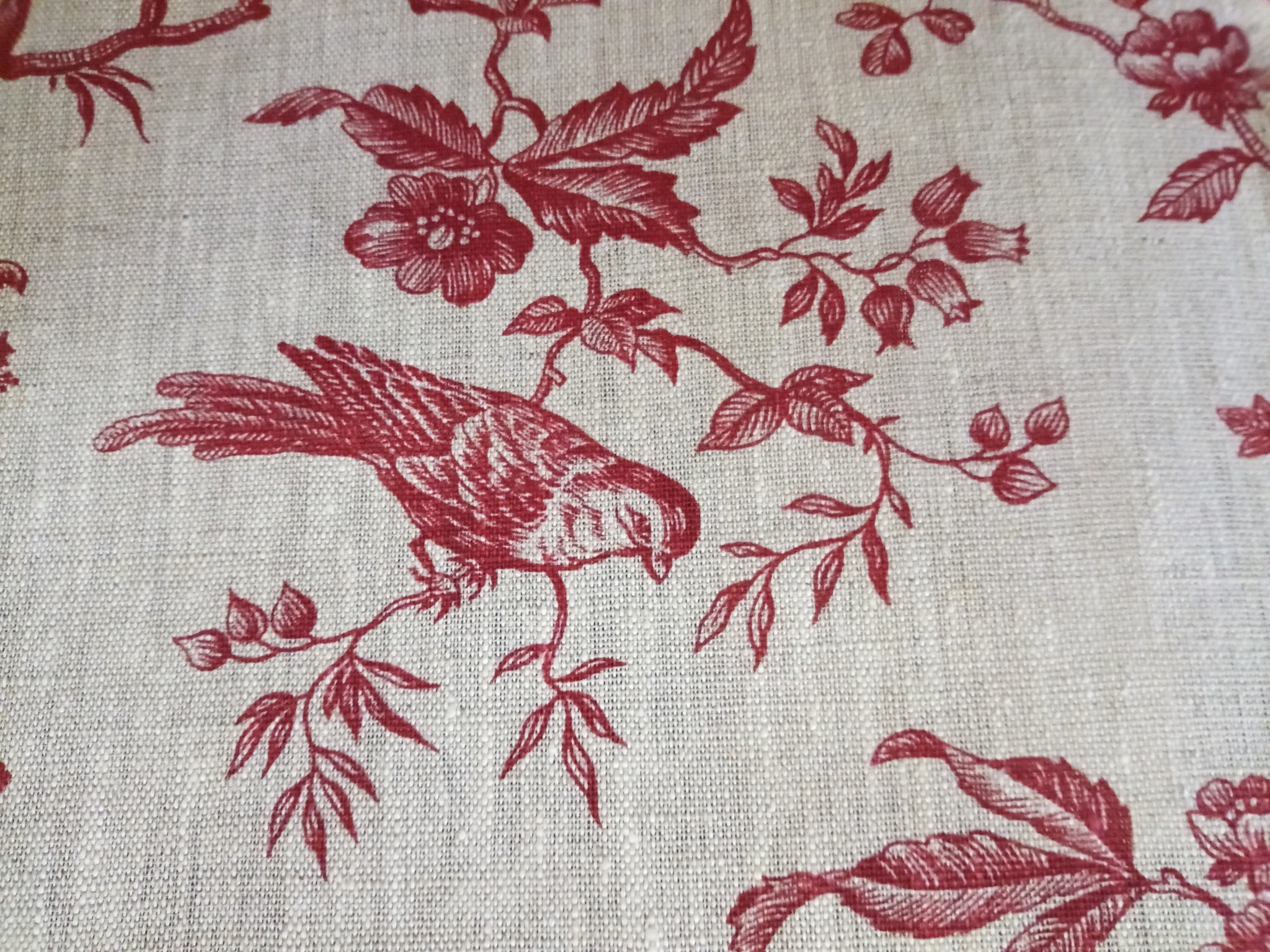 Fabric Red tit