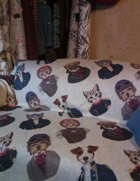 """Le grenier du lin Plaid  """" chiens chats """""""