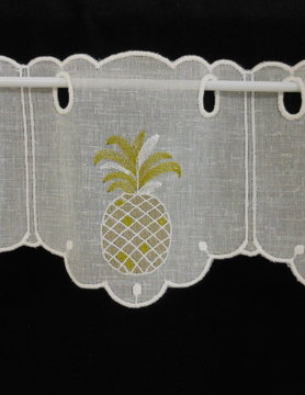 curtain with pineapple motif 14 cm high