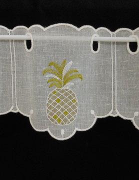 gordijn met ananasmotief 14 cm hoog