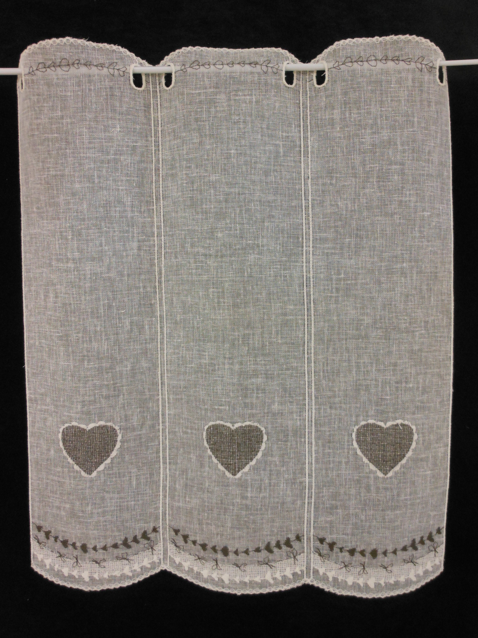 """Curtain """"heart of chocolate"""" in 90cm height"""