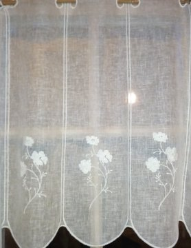 "Curtain ""Linen flower"" in 60cm height"