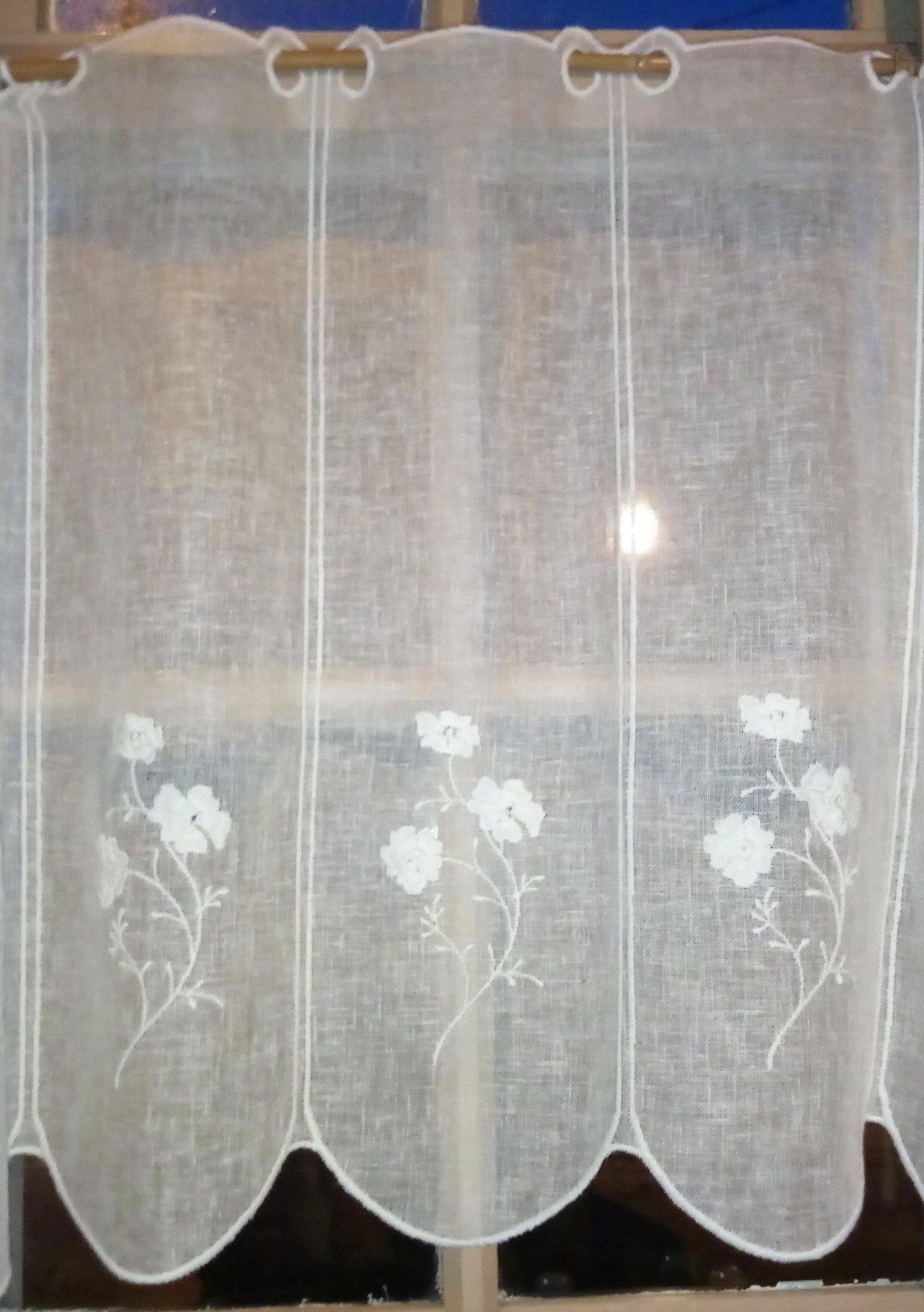 "Curtain ""Linen flower"" in 60cm height"