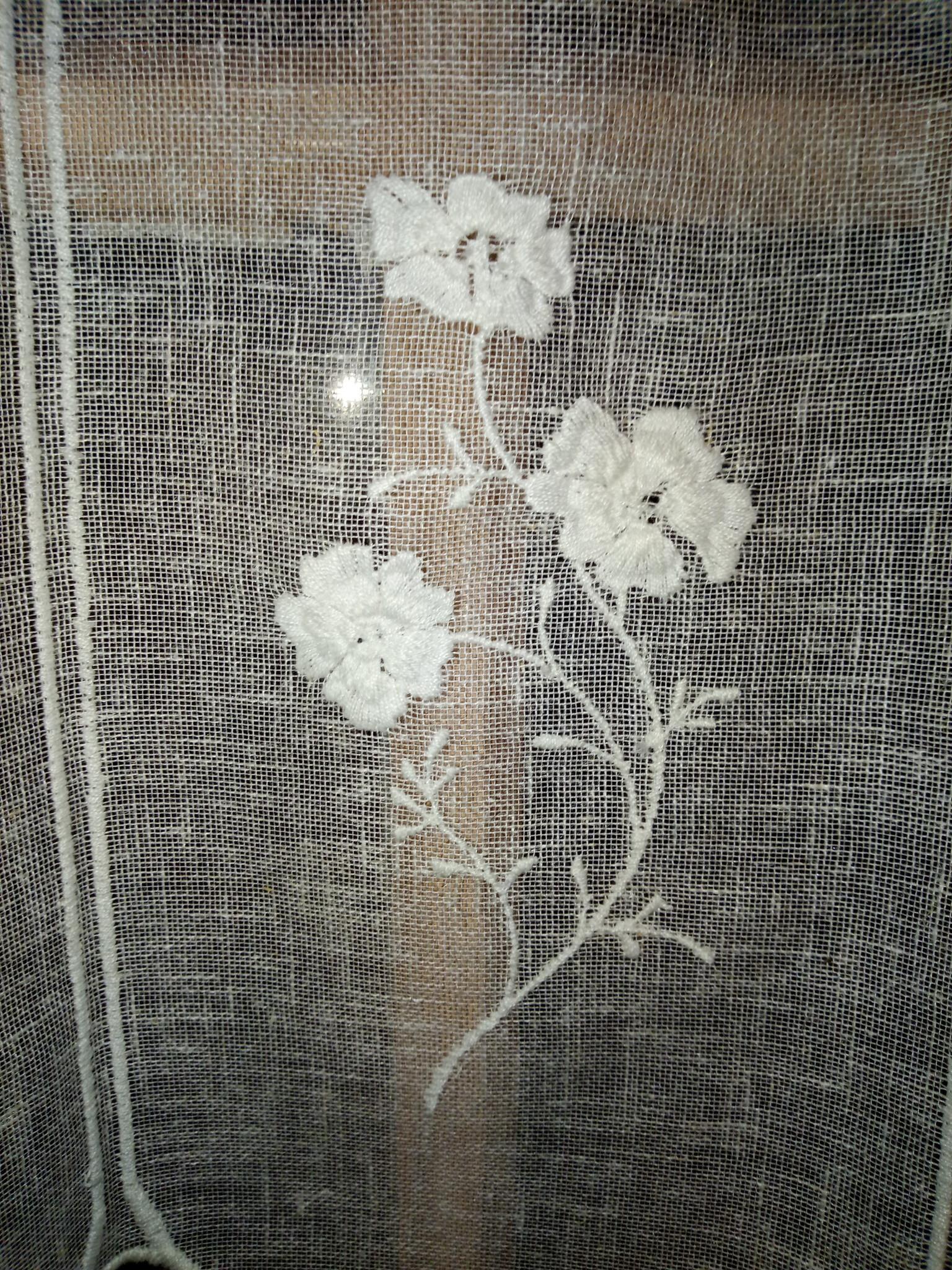 """Gordijn """"linnen bloem"""""""
