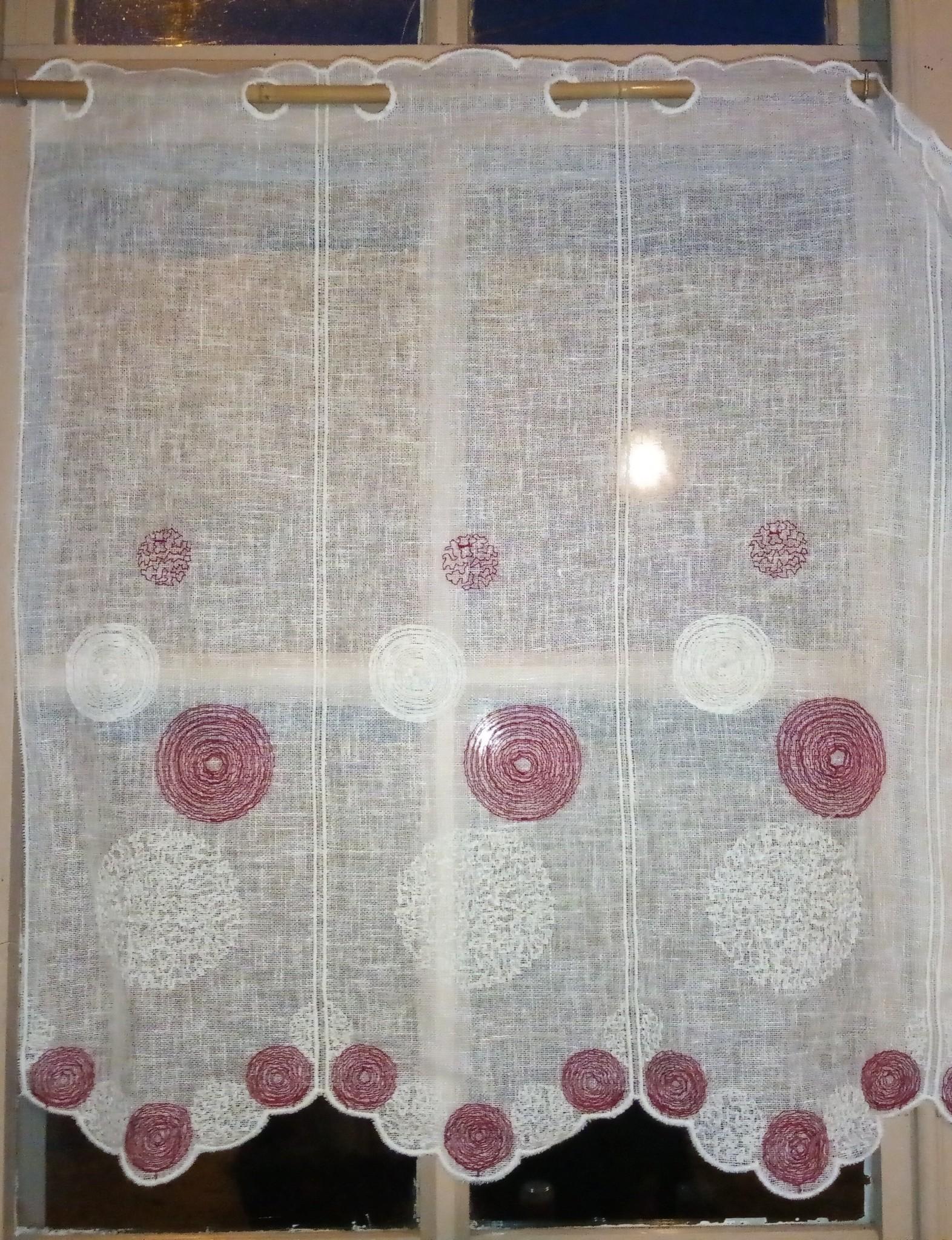 "red spiral"" curtain"