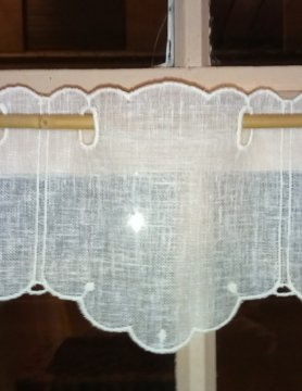 "neutral"" curtain 14cm high"