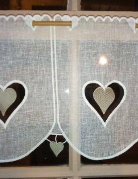 """gordijn """"hart"""" 30cm"""