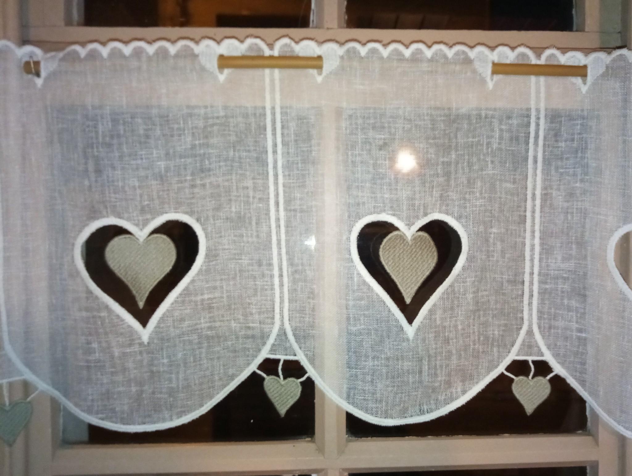 """curtain """"heart"""" 30cm"""